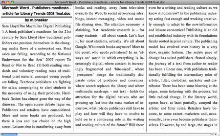 Sara Lloyd's Digital Manifesto Viewed in Stanza