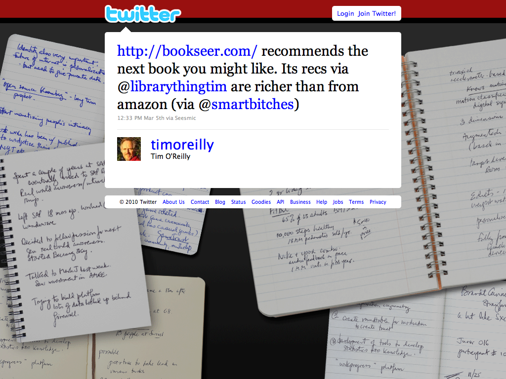 Twitter -Tim O&#039;Reilly-http---bookseer.com-recom ... (20100324)